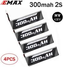 4PCS EMAX Tinyhawk S - 2s Lipo Batterie 300mah 35C 7,4 V Für FPV Rc Modell flugzeug racing Drone Rahmen