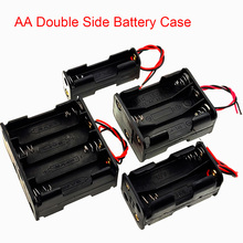 Case Battery-Box Plastic with Line AA 9V/12V Spring Back-To-Back Double-Side
