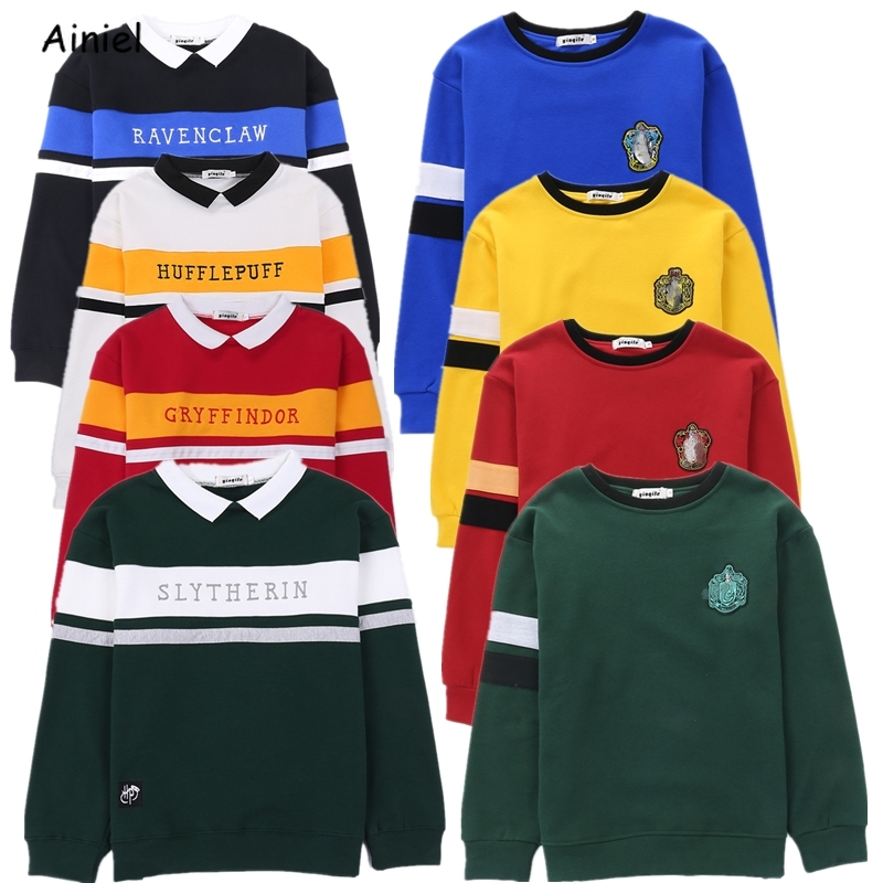 Hogwarts Uniform Harri Embroidery Hoodie Slytherin Sweatershirt Gryffindor Ravenclaw Hufflepuff Sweater Hermione Granger Costume