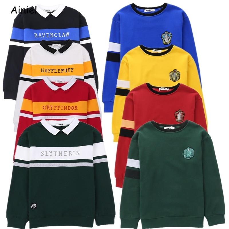 Hogwarts Uniform Harri Embroidery Hoodie Slytherin Sweatershirt Gryffindor Ravenclaw Hufflepuff Sweater Hermione Granger Costume