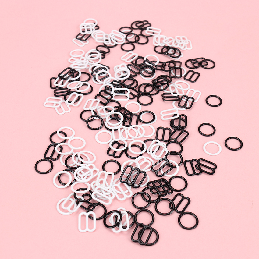 Metal Lingerie Adjustable Sewing Bra Sliders Rings Buckles DIY Sliders Strap Adjusters Buckles 10 Sets / Lot (20 Pcs)