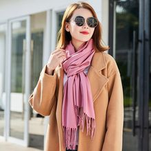 New 2019 Autumn Winter Female Wool Plaid Scarf Women Cashmere Scarves Wide Lattices Long Shawl Wrap Blanket Warm Tippet
