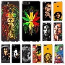 Phone Case For Huawei Honor 6A 6C 7A 8 8X 8 9 9X 10 View 20 Lite Pro Play Hard Cover Bob Marleys Lion Rasta Lion Reggae Diy(China)