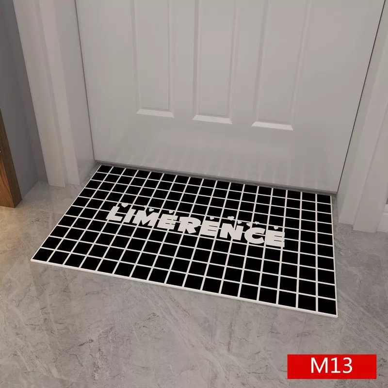 Waterproof Black Doormat Gate Pad Door Gasket Floor Mat Small Carpet Doormat For Kitchen Bathroom Bedroom