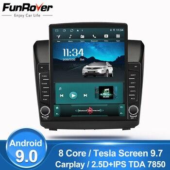 Funrover Tesla screen For Chevrolet Trailblazer Colorado S10 Isuzu D-max MU-X android 9.0 Car Radio Multimedia Player Navi nodvd