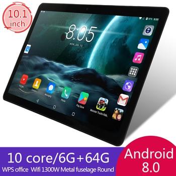 KIVBWY 10.1 inch tablet PC 6GB RAM 64GB ROM 1280*800 IPSl SIM Card 4G LTE FDD Wifi Android 8.0 tablet 10.1