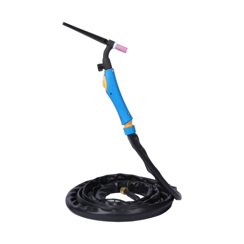 Air Cooled Argon WP9FV WP-9FV Flexible With Gas Valve Tig Welding Torch Blue Head 4 Meters Gas And Power Whole 1PCS