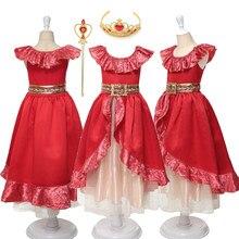 Menina vestido de natal princesa crianças elena fantasiar-se cosplay traje menina clássico princesa elena vestido para festa fantasia menina vestido