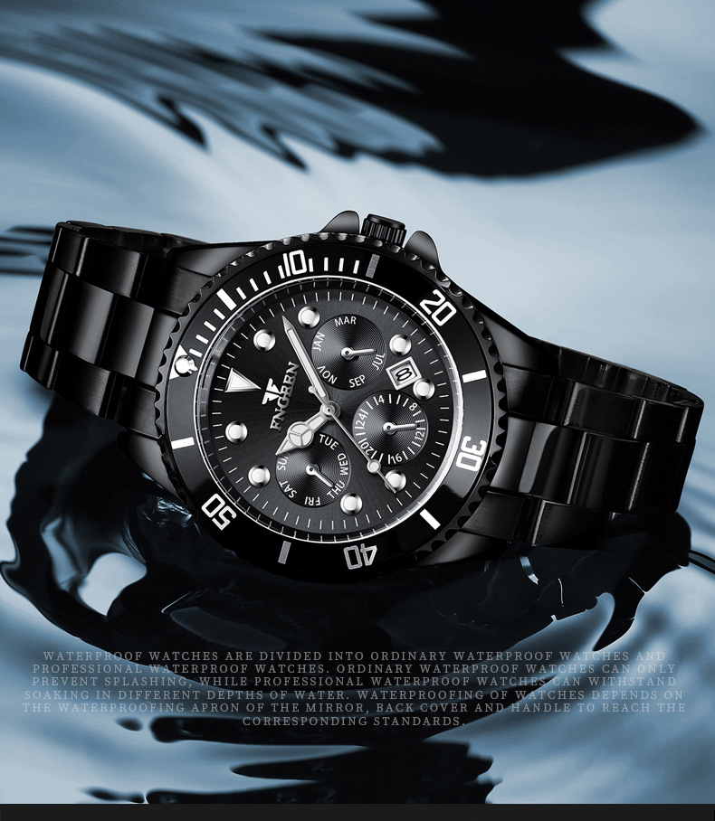 topo de luxo marca relógio masculino à