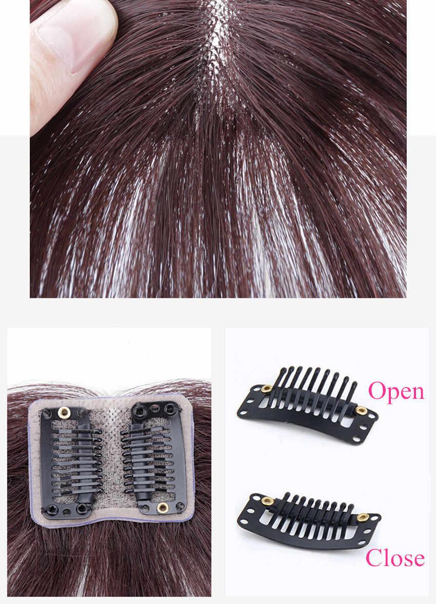 Средняя часть клип челка из человеческих волос Air челка бразильские волосы части Невидимые не Реми замена волос парик алиперл