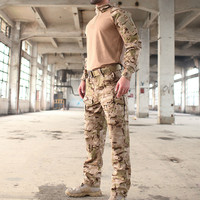 Gen 3 Military Camouflage Uniform Tactical Shirt Pants Sets Outdoor Camping Shooting Hunting Shirt Army Combat Training Clothes