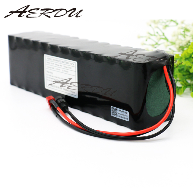 AERDU 13S4P 48V 12.8Ah 1000watt Lithium ion Battery Pack 3200MAH 54.6v E bike Electric bicycle Scooter with 25A discharge BMS