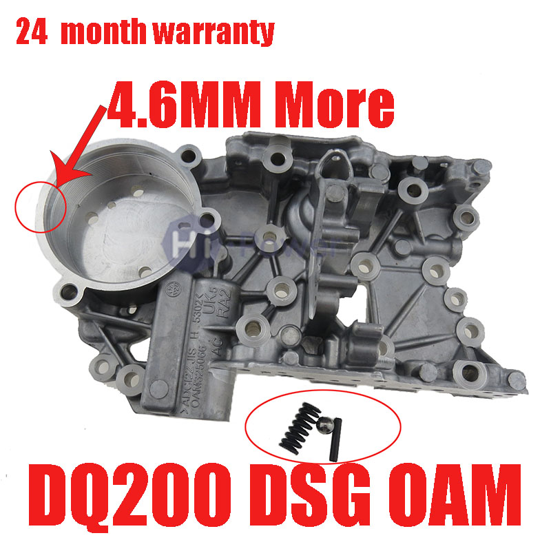 DQ200 DSG 0AM Update More 4.6MM 7-Speed Auto Transmission Accumulator Housing For Audi VW 0AM325066R 0AM325066AC 0AM325066C