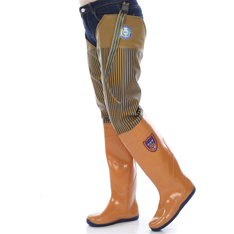 waders de pesca macio a prova damphiagua sapatos anfibios sobre o joelho botas de borracha 0