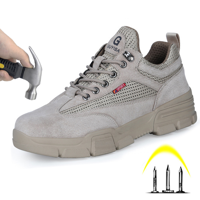 Safety Shoes Men 's Indestructible Smash-proof Puncture-resistant Breathable Comfortable Wear-resistant Steel Toe Boots