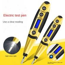 Lápis de teste multifunções ac/dc lcd digital display caneta de teste de tensão led luz detector de tensão testador chave de fenda elétrica caneta