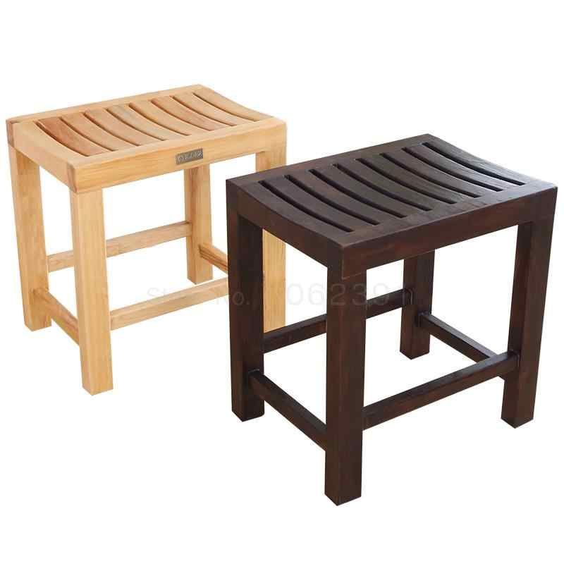 Amazing Solid Wood Short Stool Bathroom Anti Corrosion Small Wooden Ocoug Best Dining Table And Chair Ideas Images Ocougorg
