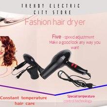 Профессиональный фен для волос, 1800 Вт, тепловая воздуходувка, горячий и холодный фен, европейская вилка