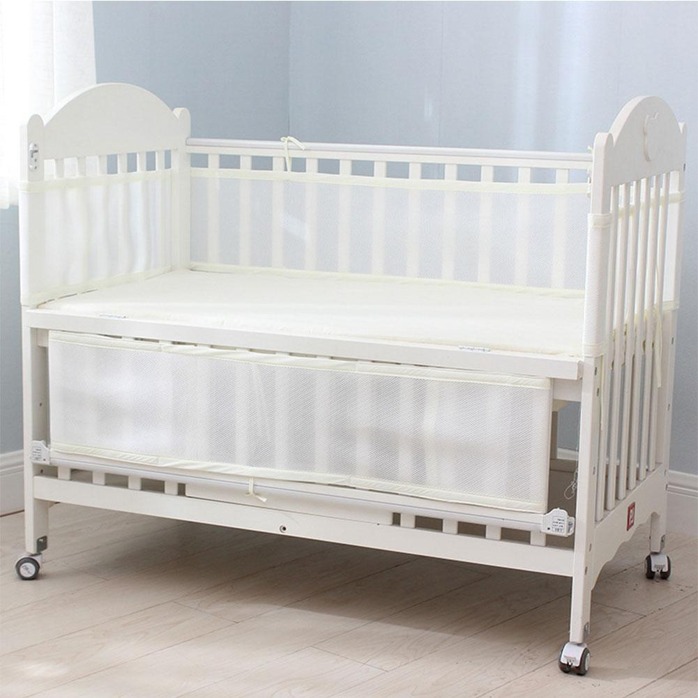 Baby Breathable Mesh Crib Liner Infant Cot Bumper Breathable Mesh Children Bumper Crib Liner Baby Cot Sets Bed Around Protector