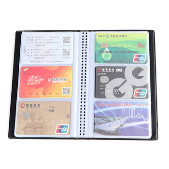 40/120/180/240/300 PU Leather Business Card Holder Case Cards ID Credit Book Organizer Collection Storage - discount item  37% OFF Wallets & Holders