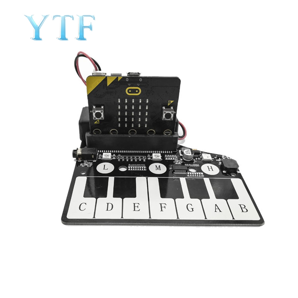 MICROBIT Piano Expansion Board Micro: Bit Music Development Board Expansion Board Buzzer RGB Lights