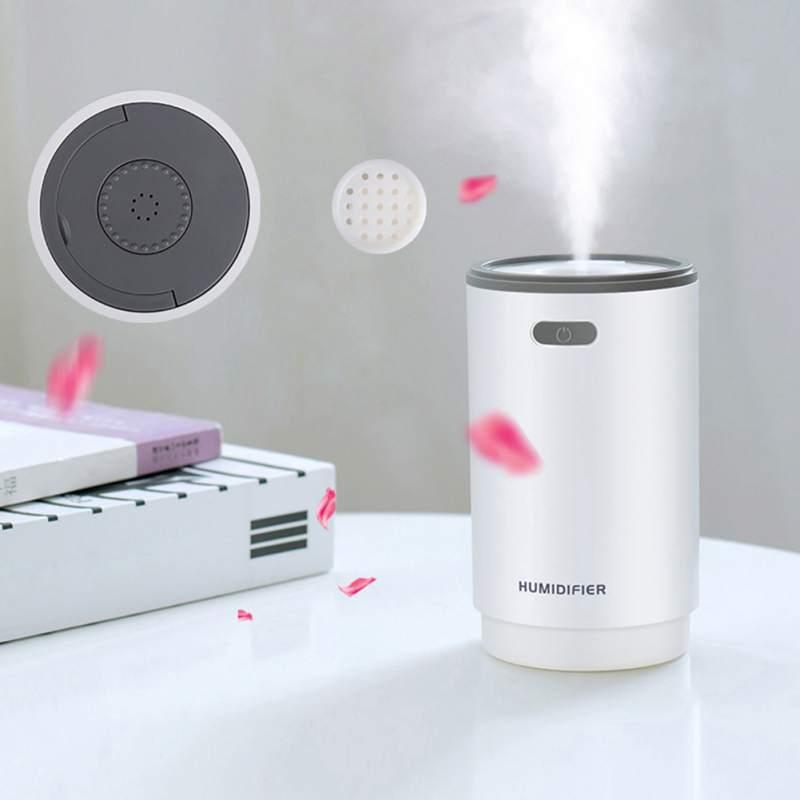 5 In 1 Humidifer Night Light Aromatherapy Machine Small Fan Makeup Mirror Spray 5 Functions-Humidifier 280 ML