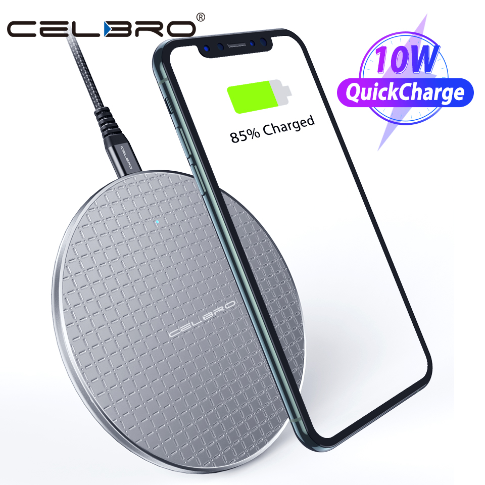 10W QI Wireless Charger Charging Pad Dock Fast Charge Phone Stand For Iphone Samsung Galaxy S20 Ultra Note 10 Plus Xiaomi MI 9 8