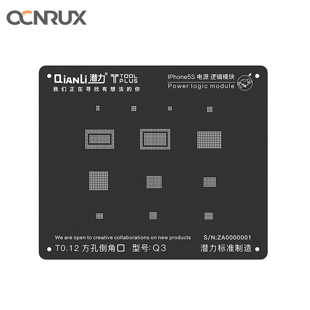 QIANLI IBlack Plus Power Logic Module BGA Reballing Square Hole Stencil Net For IPhone 5S-8P