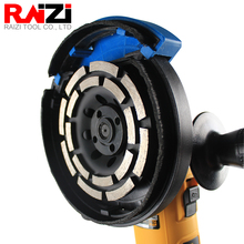 Raizi 115/125/180 mm Diamond Grinding Disc for Concrete Double Row Segment Abrasive Saw for Angle Grinder Grinding Cup Wheel