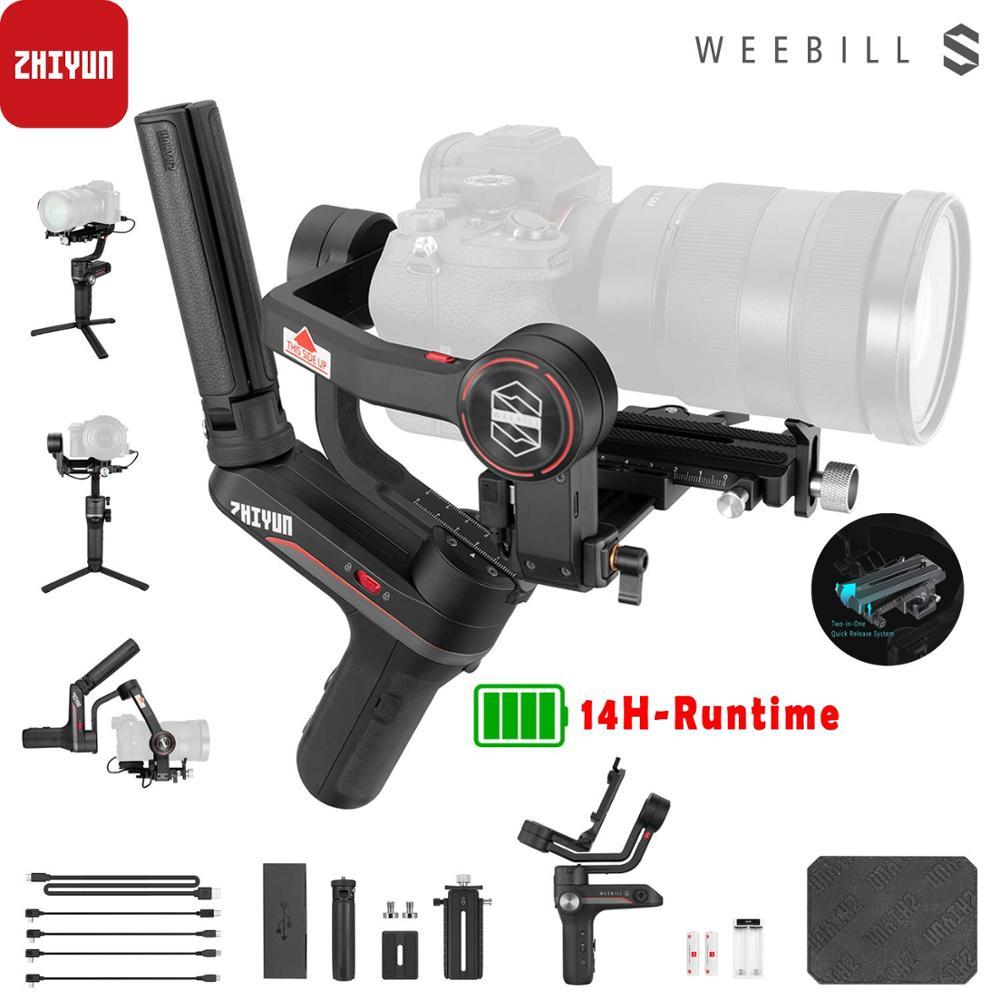 Zhiyun Weebill S, stabilisateur de cardan à 3 axes de laboratoire pour appareils photo sans miroir et reflex numériques comme Sony A7M3 Nikon D850 Z7, 300% moteur amélioré