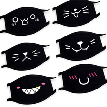 Pop Anime Mask Winter Warm Mouth Fabric Mask Dust Mask Cat Phiz Cartoon Face Dustproof Cotton Anti Reusable Double Mouth Mask