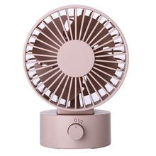 Mini Portable Quiet Usb Desk Fan Home Office Electric Oscillating Table Cooler Top Selling(Pink)