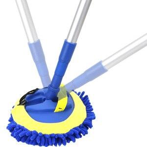 Image 2 - Escova de lavagem de carro telescópica alça longa limpeza mop escova de limpeza de carro chenille vassoura acessórios automóveis