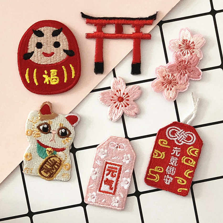 Japan Anime Borduren Patch Diy Ijzer Op Geborduurde Patches Voor Kleding Cartoon Fles Patch Iron On Patches Kleren Parches