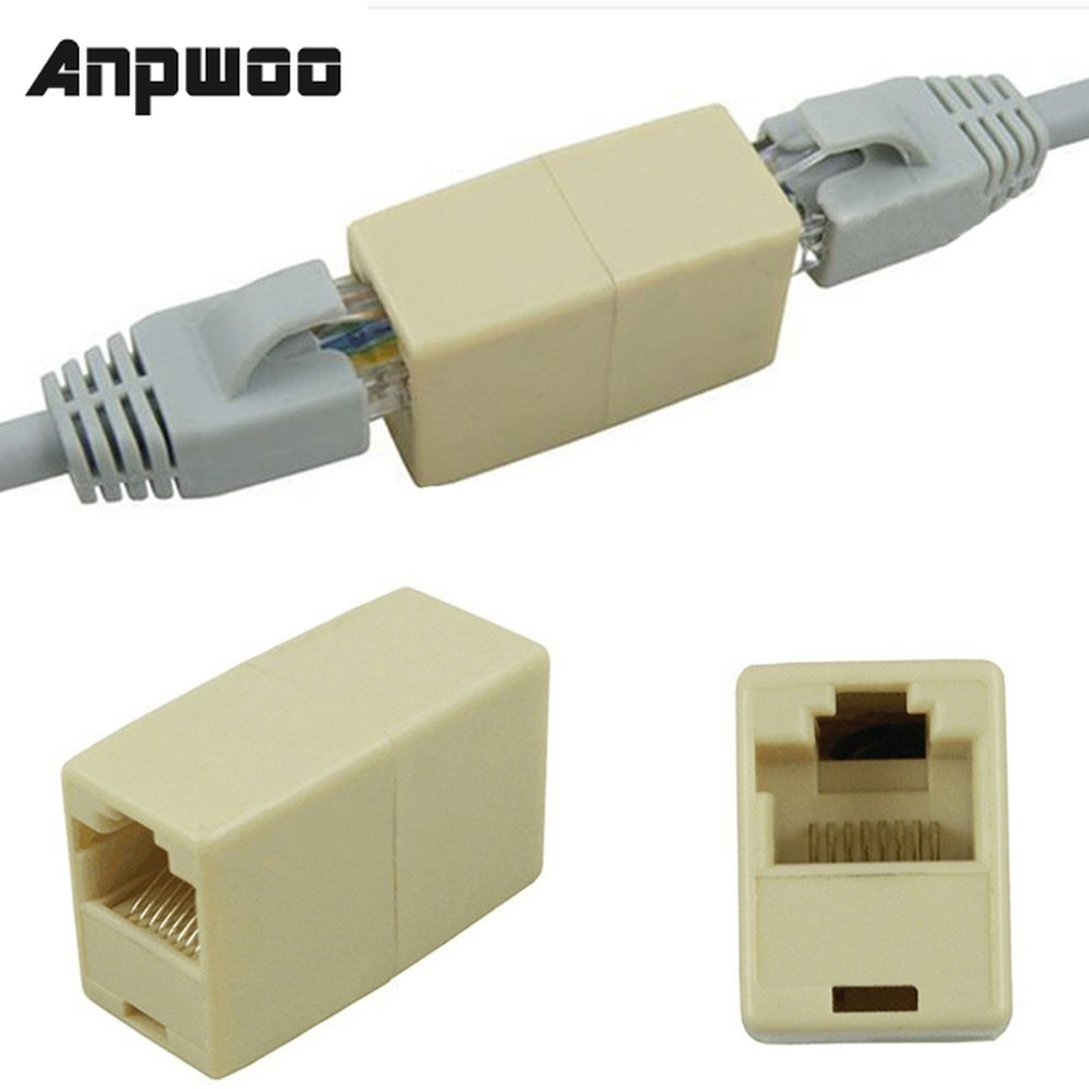 10Pcs Network Ethernet Dual Straight Head Lan Cable Joiner Coupler RJ45 CAT 5 5E 6 6a Extender Plug Network Cable Connector