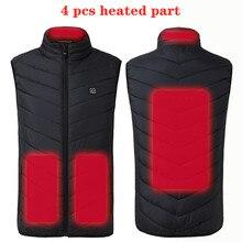 Интеллектуальная куртка с подогревом, жилет, подарок, USB, электрическая батарея, тепло, для улицы, походная куртка, пальто, теплый тактический жилет, veste chauffante