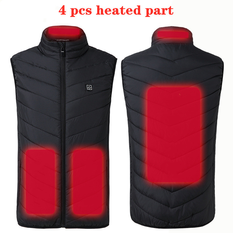 Heater Vest Intelligent Heating Jacket Gift USB Electric Battery Heated Heat Outdoor Hiking Jacket Coats Warmer Tactical Vest