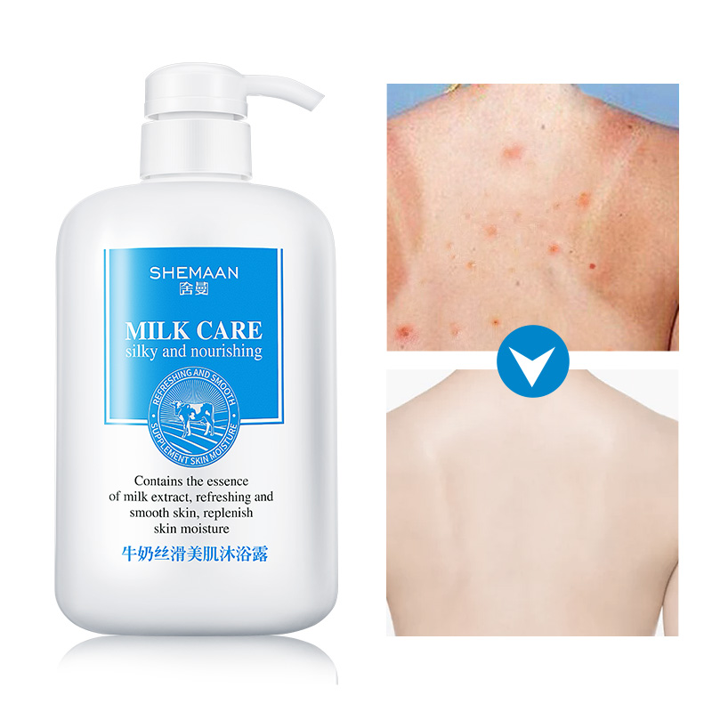 800ml Milk Moisturizing Shower Gel Whitening Deep Clean Skin Wash Shower Gel Lasting Fragrant Bath Lotion Exfoliating Body Care