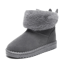 CINESSD Winter Boots Women 2019 Botas Mujer Warm Plush Ankle Boots for Women Slip-On Fur Booties Snow Boots Women Winter Shoes fur boots women bow slip on snow boots women winter shoes warm ankle boots botas mujer plush shoes flat booties chaussures femme