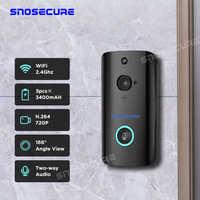 SNOSECURE Drahtlose WiFi Türklingel Kamera IP 720P Ring Video türklingel Intercom Zwei-wege Audio APP Control Infrarot Nacht vision