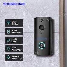 SNOSECURE Wireless WiFi Doorbell Camera IP 720P Ring Video Door bell Intercom Tw
