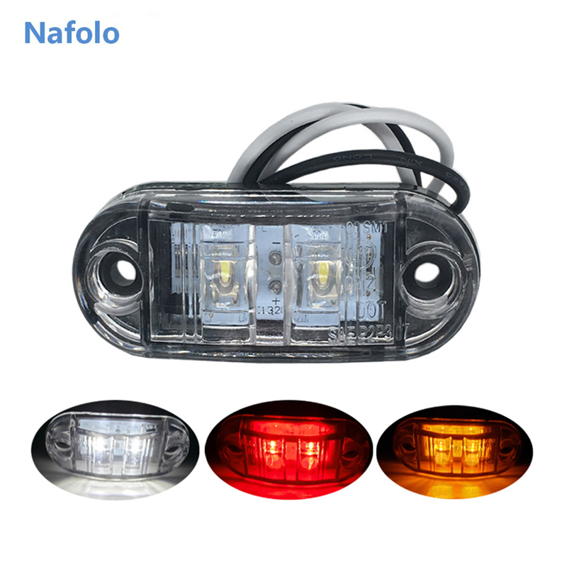 12V 24V LED Side Marker Lights Car External Lamp Warning Tail Lamp Auto Trailer Truck Signal Light 24V