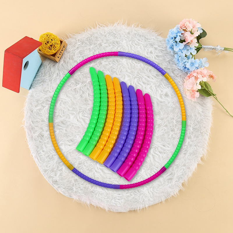 Detachable Sport Hoop Plastic Fitness Circle Children Home Exercise Fitness Casual Sport Hoops Kids Gym Weight Training Loop