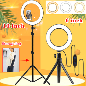 Image 1 - Orsda 26cm/10inch Ring Light LED Selfie Lamp Studio Photography Photo RingLight Makeup For Live Tube Fill with Tripod Youtube