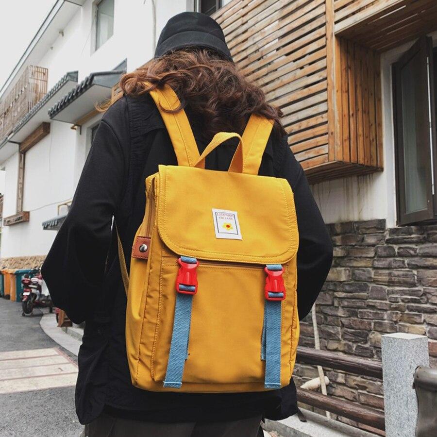 New Fashion Women Backpack Waterproof Large Capacity Nylon Bagpack Street Style Backpack Female College Student Bag Travel Bag