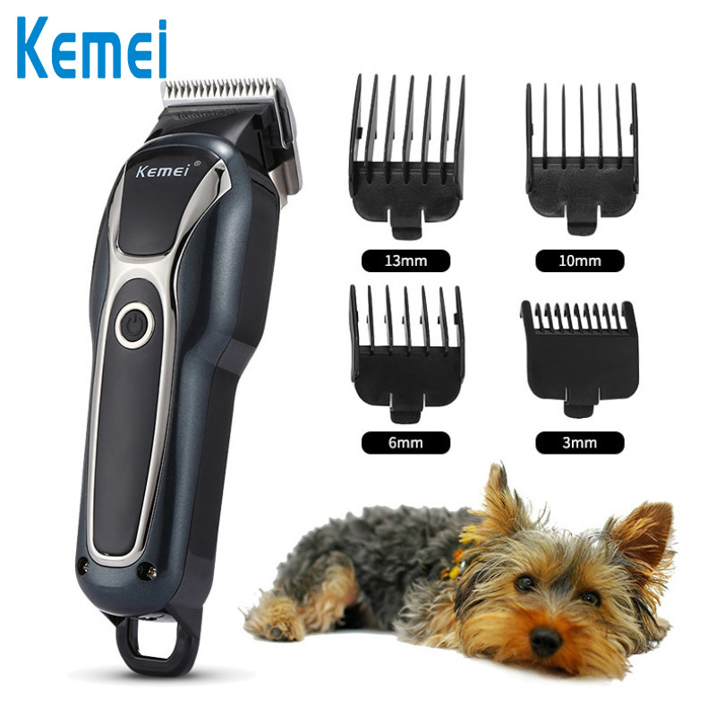 Kemei Professional Animal Hair Trimmer Charged 4 Hair-cutting Combs Trimmer Hair Cutting Machine Electric Scissor Clipper D42
