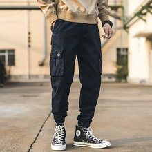 Black Casual Pants Men Military Tactical Joggers Camouflage Cargo Pants Multi-Pocket Fashions Khaki Army Trousers