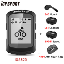 Cycling GPS Bike-Accessories Sensors Igpsport Igs520 Bike Speedometer Bluetooth Ant
