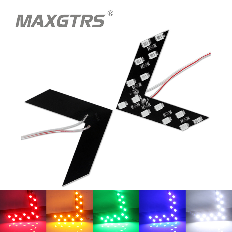 10x Car Hidden Arrow Panel 14 Smd 3528 Rearview Side Mirror Led Decorative Indicator Lights Reverse Direction Turn Signal Lamp