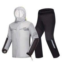 Raincoat men waterproof raincoat suit motorcycle fashion sports r rain jacket light soft 210T Nylon rain coat 3D reflect light